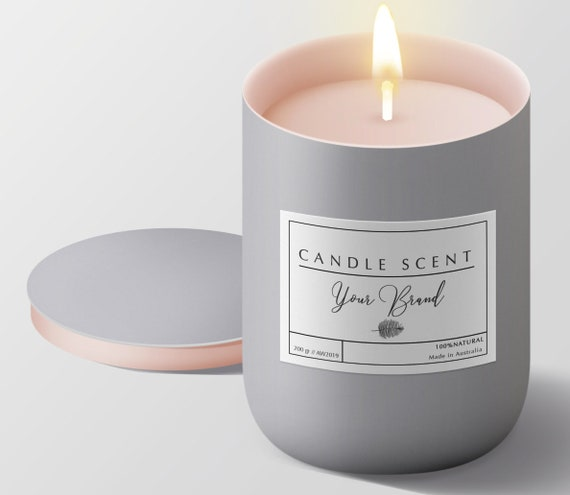 photograph regarding Printable Candles titled Printable candle labels, Custom made candle packaging, Tailor made content labels, Merchandise packaging Labels design and style, Tailor made candle sticker candle label