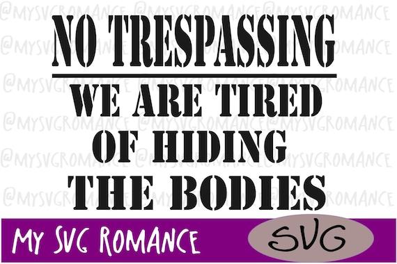 No Trespassing Stencil 3 Pack