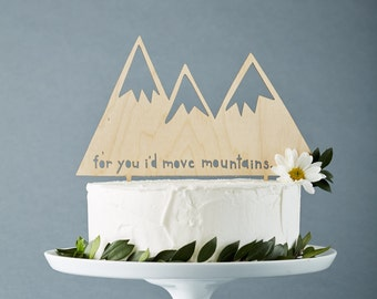 Wedding cake toppers etsy ca custom wedding cake topper mountains rustic wooden wedding decor personalized wedding cake topper lasercut cake topper junglespirit Gallery