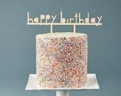 Birthday Cake Topper - Customize Cake Topper Simple - Wooden Wedding Cake Topper Birthday Celebration