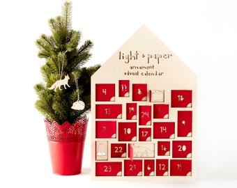 Ornament Advent Calendar- Lasercut Birch (set of 24)