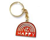 Up the Happy Rainbow Enamel Keychain
