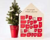 Ornament Advent Calendar- Lasercut Birch Wood and Paper (set of 24)