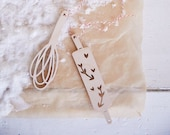 Half Baked Harvest x Etsy Set of 3 Baking Ornaments - Whisk, Spatula, Rolling Pin