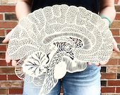 Anatomical Brain Lasercut Wooden Artwork