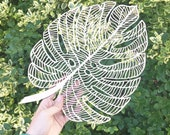Lasercut Wooden Artwork - Monstera Leaf