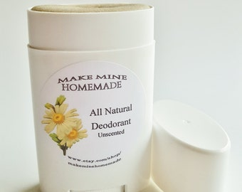 All Natural Deodorant ~ Unscented ~ GMO Free ~ Aluminum Free ~ Odor control w/ Coconut oil ~ Safe for Nursing Moms!!