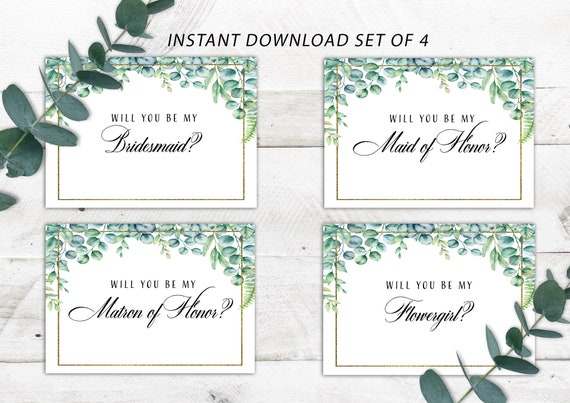 This is a graphic of Resource Free Printable Bridesmaid Proposal