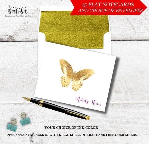 personalized stationery set butterfly stationery note cards