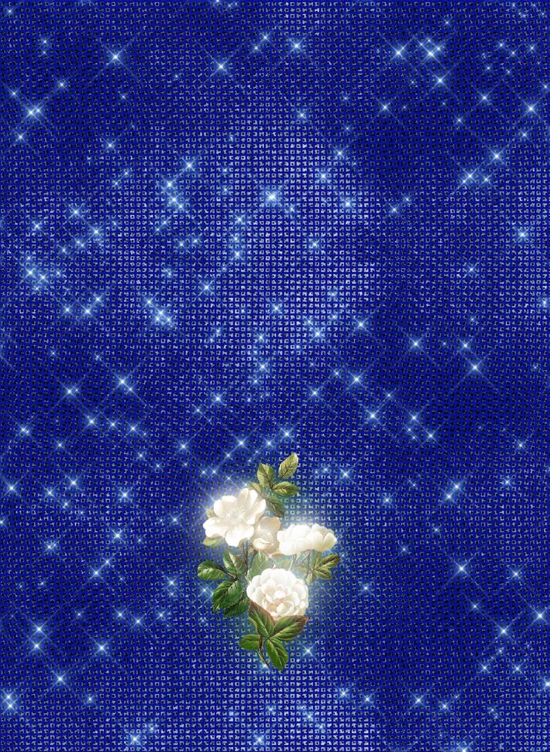 c64eb7b9db61 Royal blue Bridal Shower invitation Bling Bridal Shower