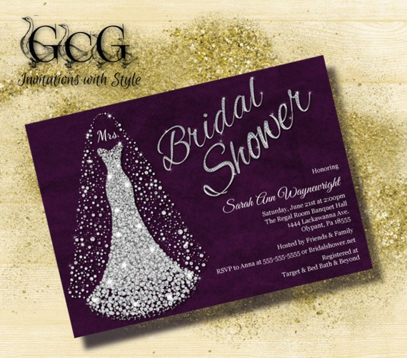 bridal shower invitation wedding dress invitation bridal shower