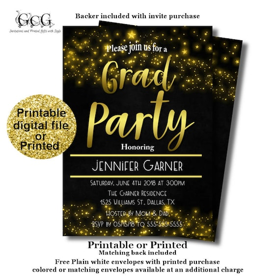 image regarding Free Printable Graduation Party Invitations identify Higher Higher education Commencement Celebration invitation - Commencement