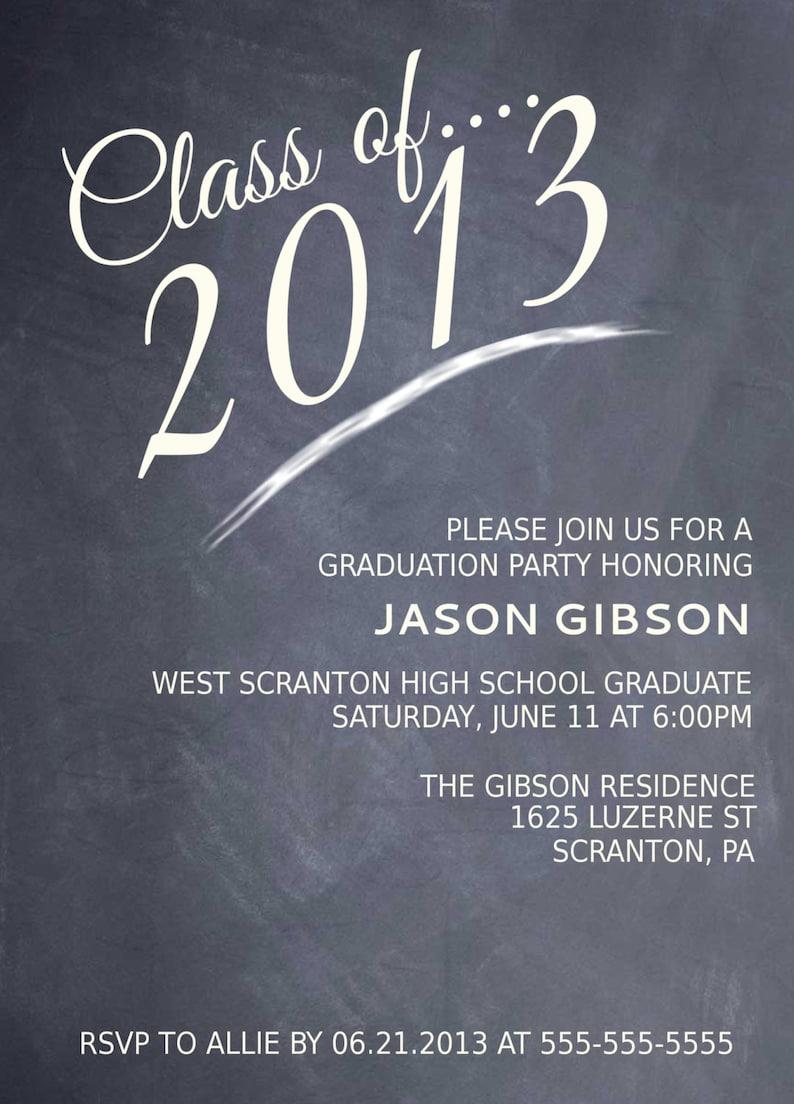 Printable Graduation Party Invitation Graduation Announcement Graduation invite Printable Invitations College Graduation Grad invitation