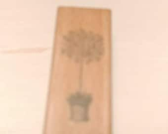 Retired Rubber Stamp  -  Plant