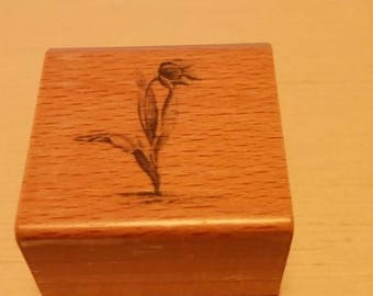 Retired Rubber Stamps   -     Flower on Stem