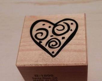Retired Rubber Stamp    -  Heart