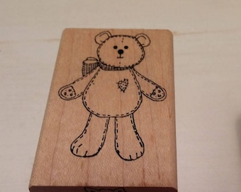 retired Rubber Stamp    -     Teddy Bear