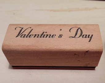 Retired Rubber Stamp  - Valentine's Day