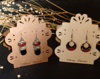 earring card, necklace card, jewelry display card, tent display card, necklace earring card, personalized, custom jewelry card, 3.75 x 3.25