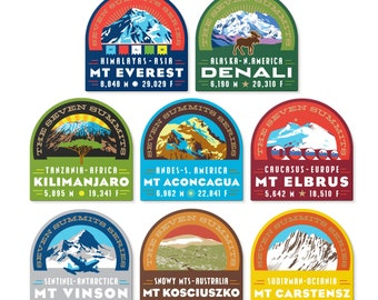 Seven Summits Series Decal Collection