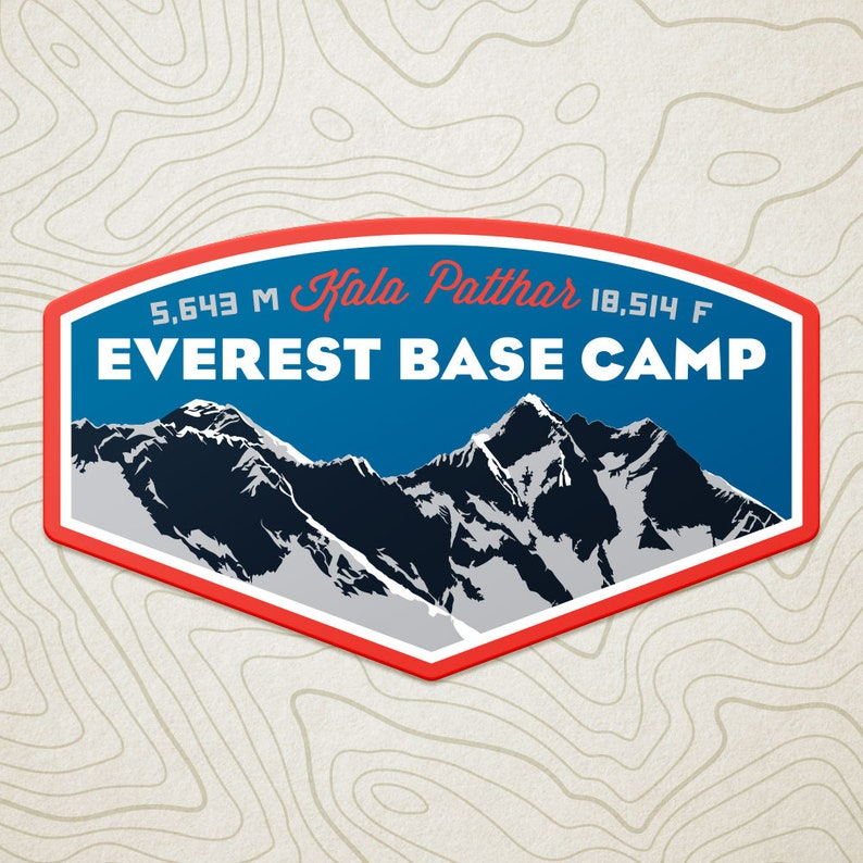 e02a5e6e11fe Everest Base Camp Decal Sticker