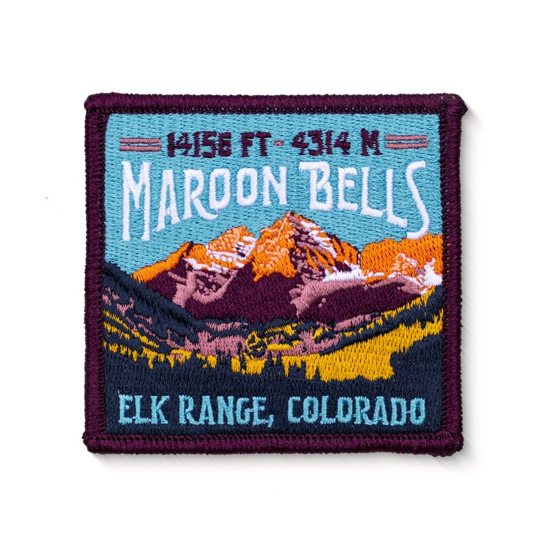 Maroon Bells Colorado 14er Patch
