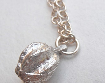 Galilee Acorn charm - sterling silver nature inspired charm