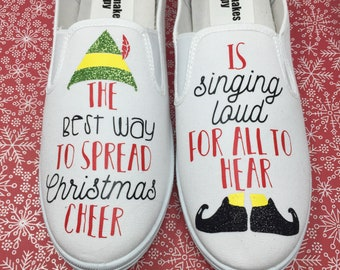 d627e11256 The Best Way To Spread Christmas Cheer Is Singing Loud For All To Hear  Shoes. Christmas Vans. Christmas Shoes.