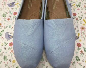 2b508fcfc100 Light Blue Glitter Shoes. Light Blue Wedding Shoes. Light Blue Toms. Light  Blue Shoes. Sky Blue Bridesmaids.