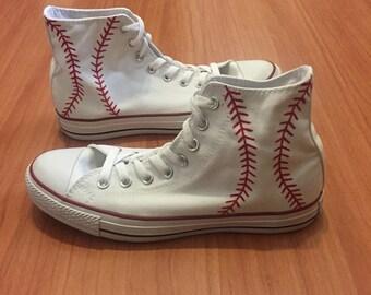Baseball converse | Etsy