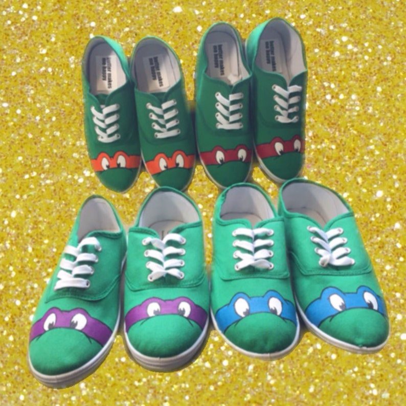 7bd90ddb289fe Ninja Turtle Mask Shoes [pick your color] hand painted shoes