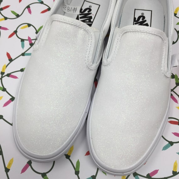 White Pearl Vans. FREE PERSONALIZATION