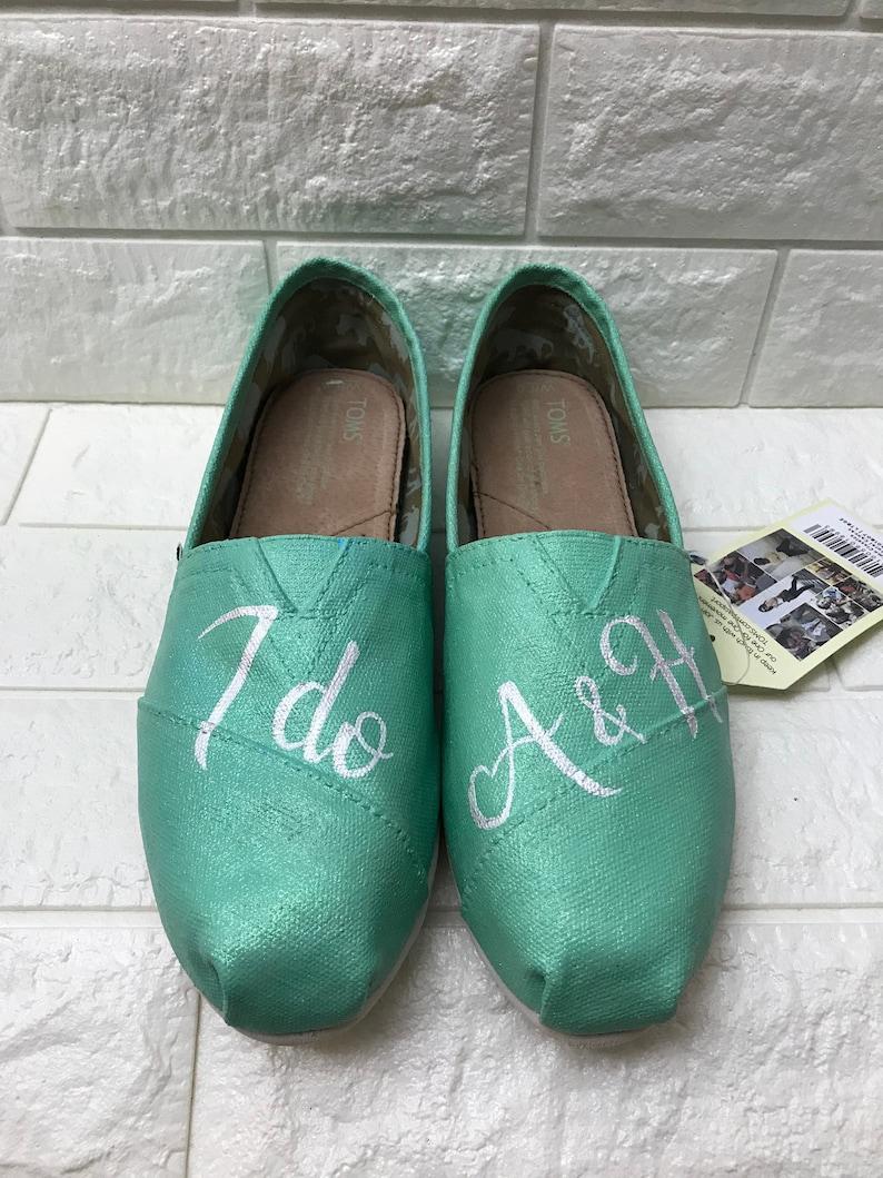 low priced 609a7 de437 Ich tue Hochzeiten Toms. KOSTENLOSE ANPASSUNG. [Mint Schuhe]  Mint-Glitter-Toms. In Mint Vans oder Mint Converse erfolgen.