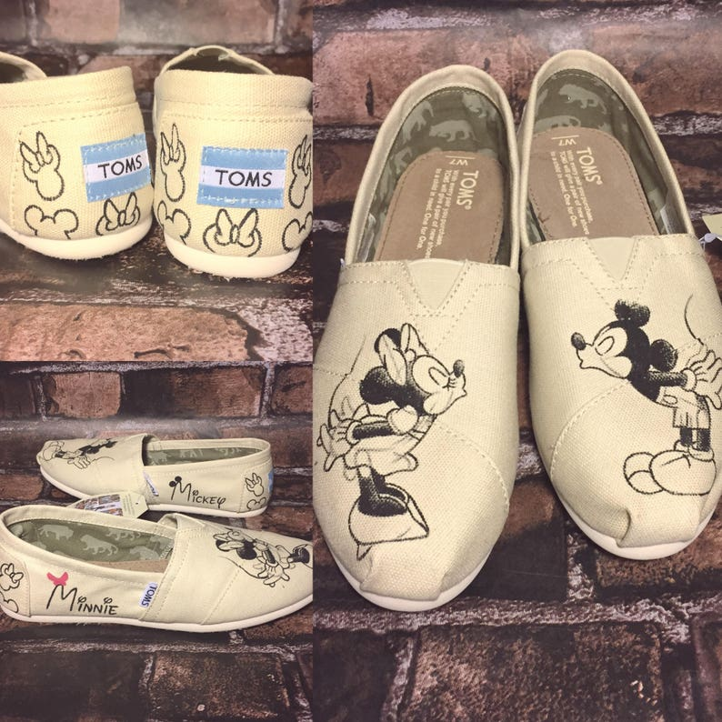 74d62dd81e MINNIE   MICKEY Sketch Disney Shoes. Mickey Toms. Mickey and