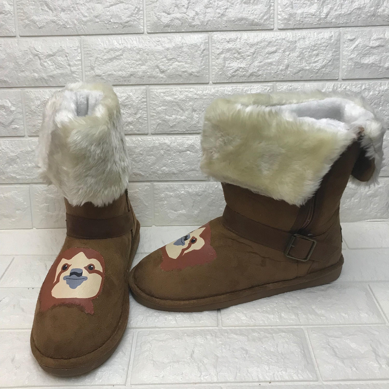 Faultier Stiefel Faultier Schuhe großes Weihnachtsgeschenk | Etsy