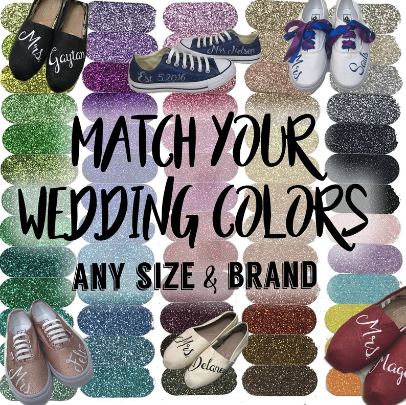 5be3a7f1263 FREE SWATCHES Wedding Glitter Shoes Match Your Wedding