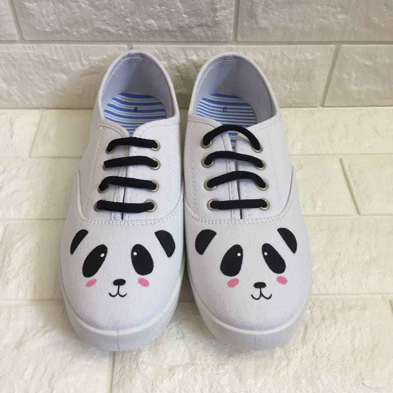Panda Shoes. Hand painted panda face shoes. Panda.  c2f007d1c3f