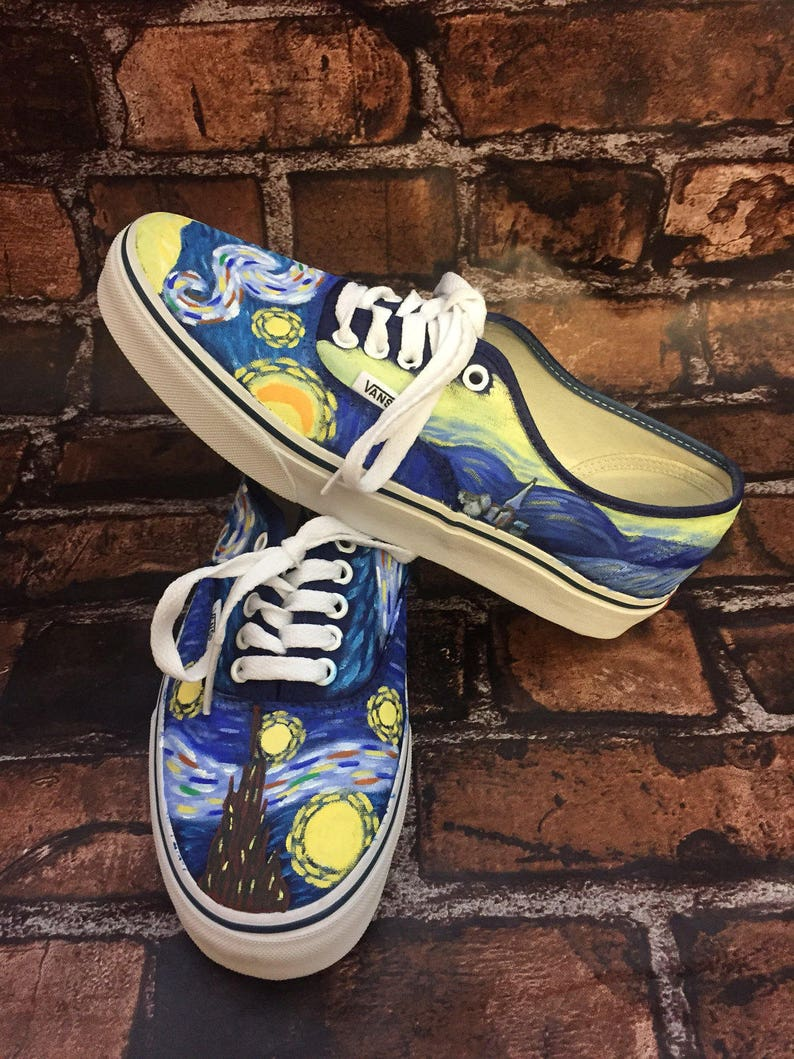 Starry Night Shoes. Van Gogh Vans. Vincent Van Gogh Shoes. Painted Van  Gogh. Can Do Starry Night Converse or Toms 1d07dd45b