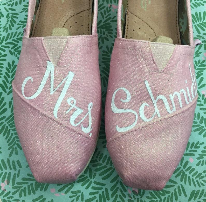 ecd53975a77 Mrs Weddings Toms Pink Glitter Shoes Pink Glitter Toms. Can