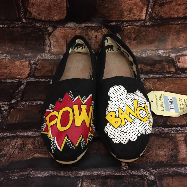 7901604a3161 Comic Toms. POW Comic Book Shoes. BANG Comic Book. Toms.