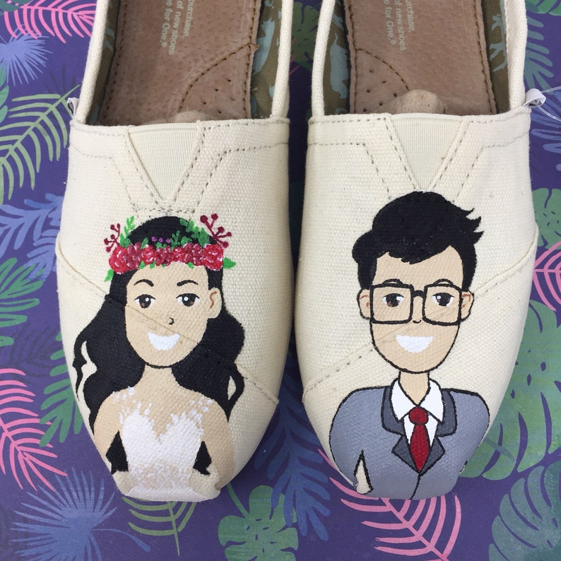 8e444929b1b3 Caricature Wedding Shoes Digital Illustration. Emoji Wedding