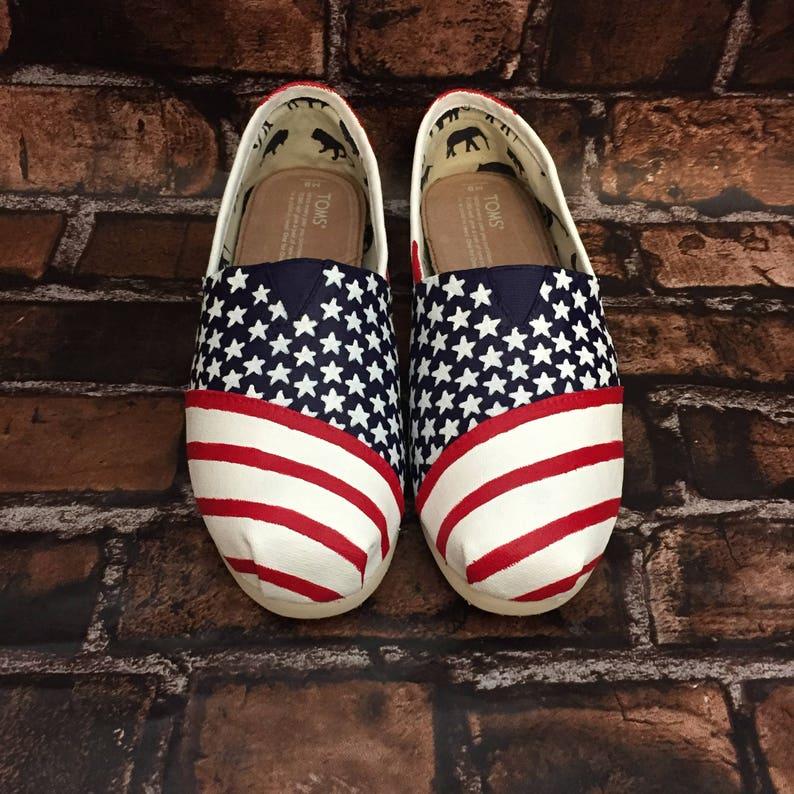 American Flag Toms. Flag Shoes. Flag Vans. Forth of July Shoes. Merica Shoes. 4th of July Shoes. 4th of July Toms. Flag Converse.