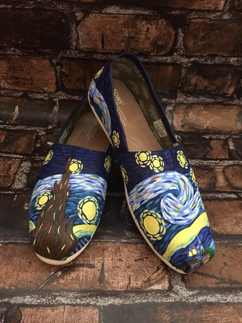 Van Gogh Toms. Starry Night Shoes. Vincent Van Gogh Shoes. Pa... Starry  Night Toms. Van Gogh Toms. Starry Night Shoes. Vincent Van Gogh Shoes. Painted  Van ... ecaceef0b