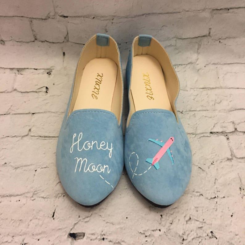 eba70768b827b6 Chaussures de lune de miel. Chaussures Just Married. | Etsy