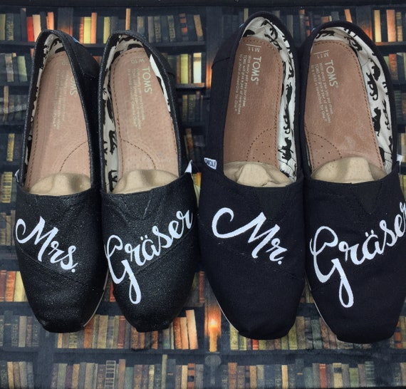 Bride Grooms Shoes Wedding Shoes Just Married Shoe Mr And Etsy