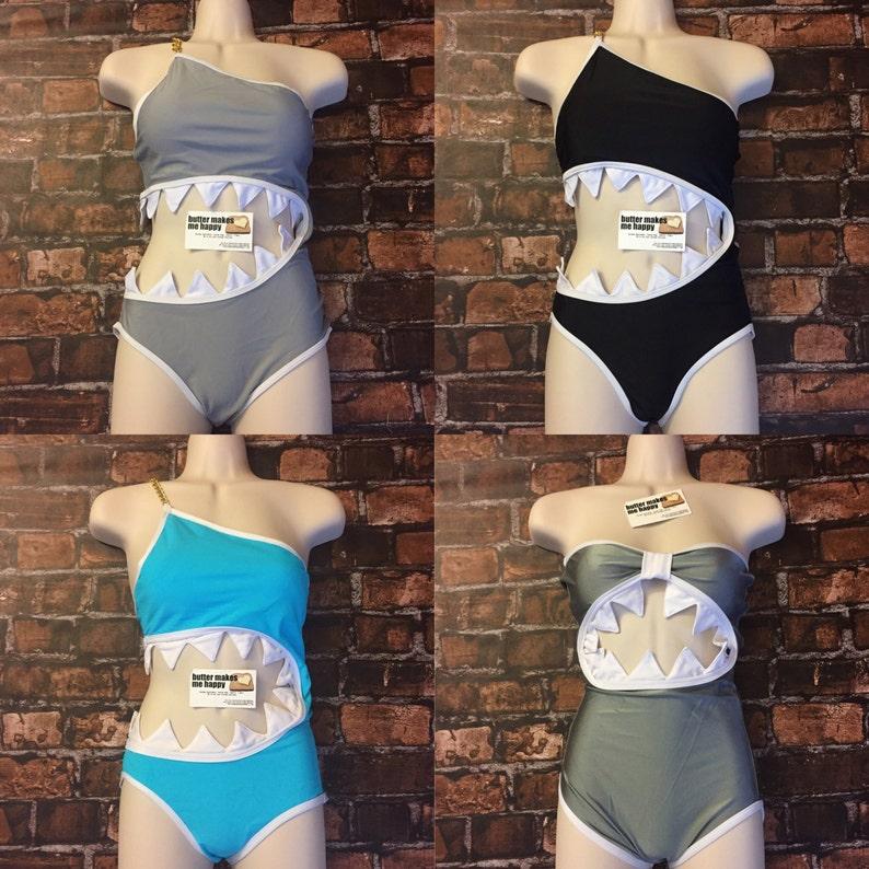 52ea910367d8b ORIGINAL SHARKINI Sexy Shark Costume. Shark Monokini Bathing   Etsy