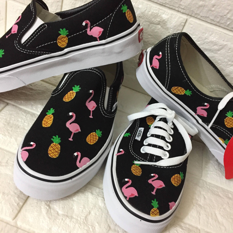 176338bf40 Pineapple   Flamingo Vans. Flamingo Shoes. Flamingo Toms.