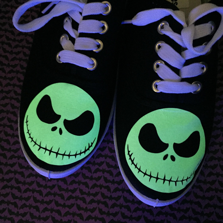 Glow In The Dark. Nightmare Before Christmas Shoes. Skeleton | Etsy