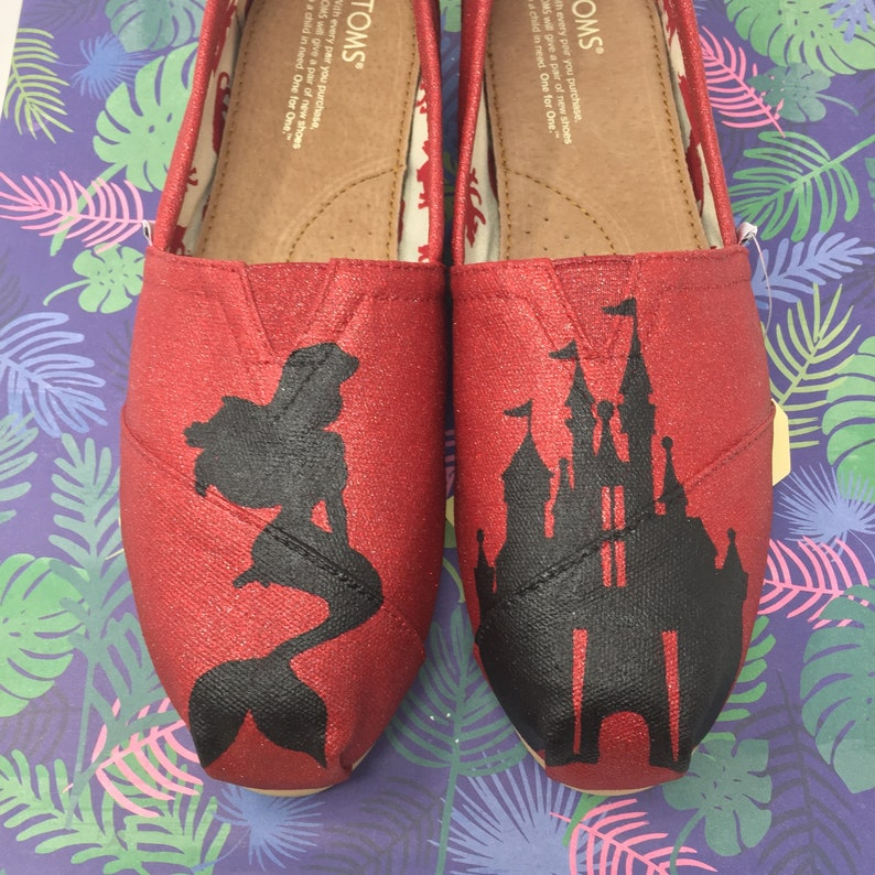 26544df74add the Little Mermaid Toms. Kiss The Girl Shoes. Flounder Shoes.