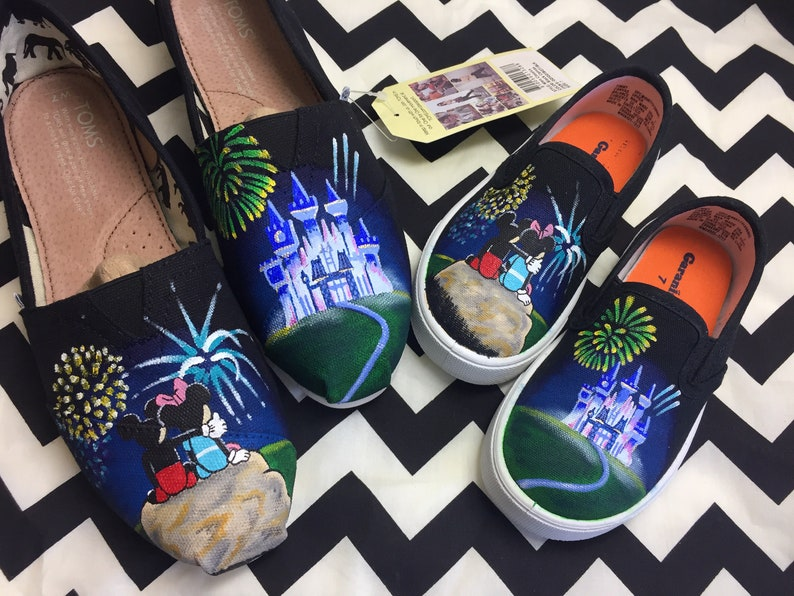1d9d85bc3cf Mom   Me Disney Toms. Mickey Mouse. Disney Fireworks Shoes.